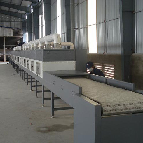 Continuous microwave drying (st